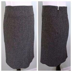 BANANA REPUBLIC Stretch Wool Blend Career Skirt 0